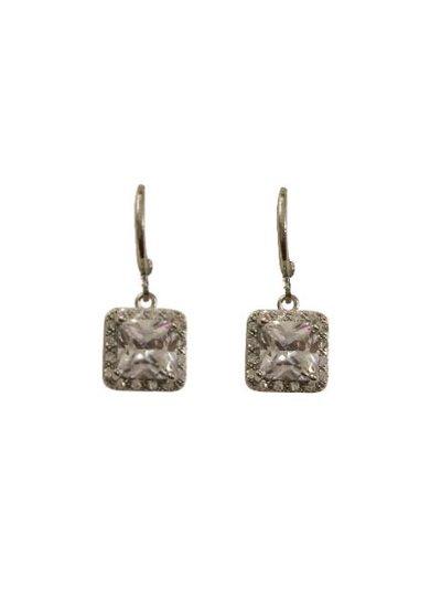 Elegant princess cut statement earrings