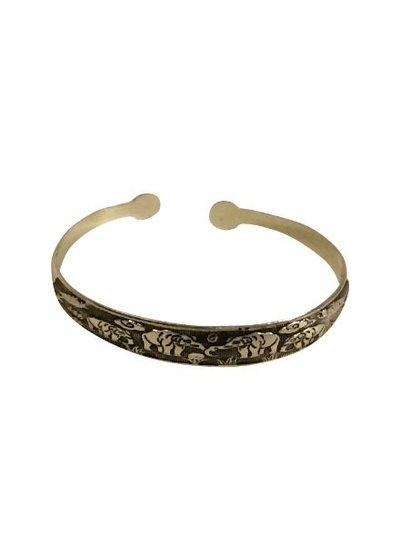 Leuke vintage boho statement cuff armband model A