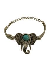 Leuke boho chique statement armband met olifant