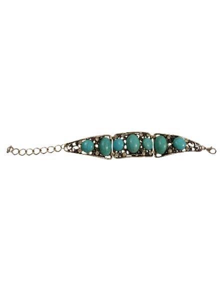 Turquoise vintage bohemian statement bracelet