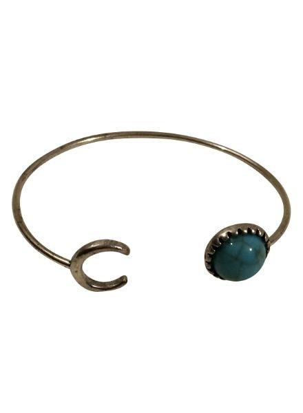 Boho chique statement cuff armband met halve maan