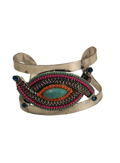 Unique vintage bohemian chique statement cuff bracelet