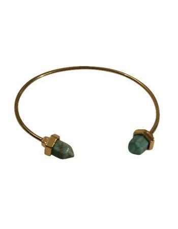Boho chique statement cuff armband met turquoise stenen