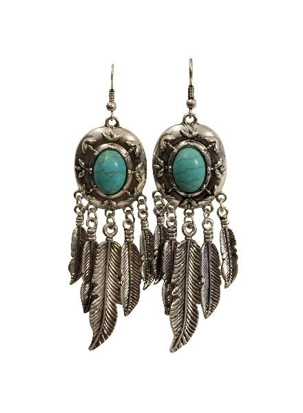 Cute boho chique statement earrings with feathers
