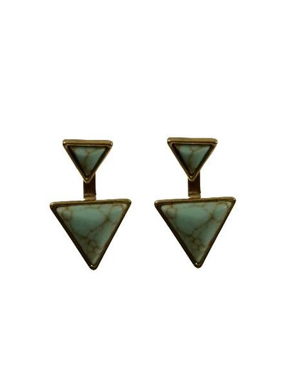 Cool boho chique double statement earrings