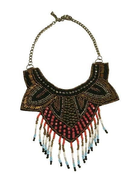 Colorful bohemian chique statement necklace