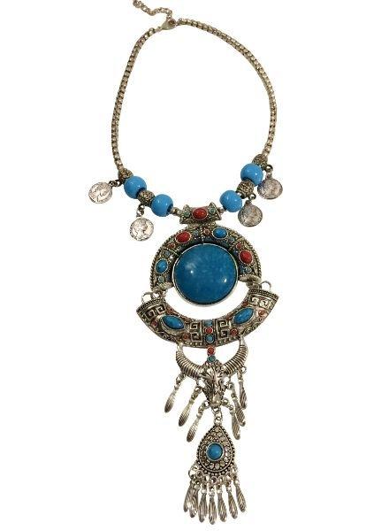 Bold boho style statement necklace