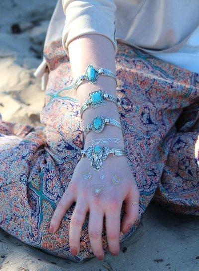 Gorgeous boho chique statement bracelet model A