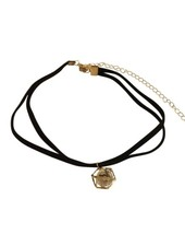 Minimalistic statement choker necklace with caged ball
