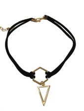 Minimalistic statement choker necklace triangle