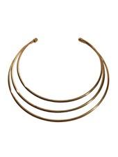 Layered minimalist chic statement choker necklace