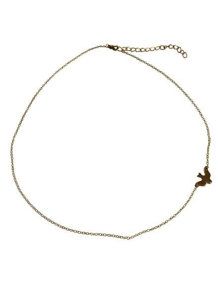 Minimalistic statement necklace with bird