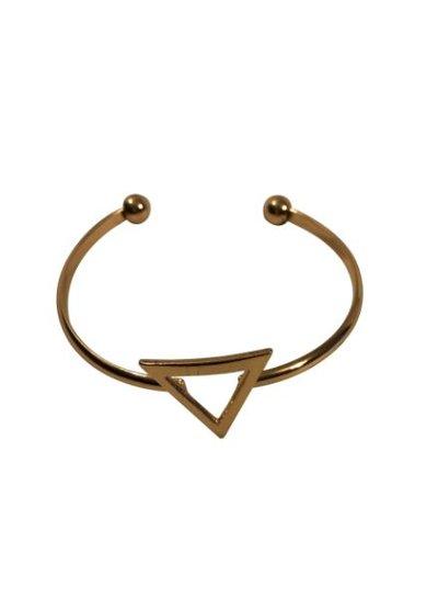 Gold colored minimalistic chic statement cuff bracelet triangle