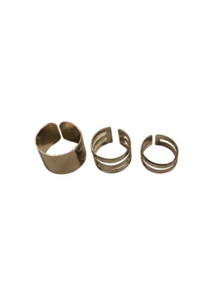 Minimalistic chic statement rings 3 pcs
