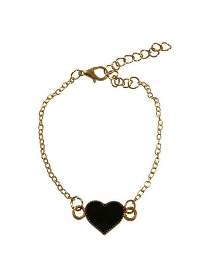 Minimalistische statement armband met hart