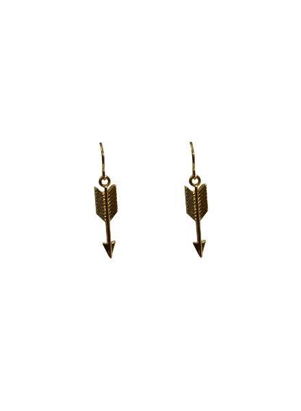 Minimalistic arrow statement earrings