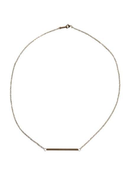 Zilverkleurige minimalist chic statement ketting