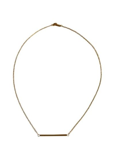 Gold colored minimalist chic statement necklace