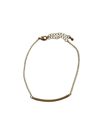 Gold colored minimalistic statement bracelet