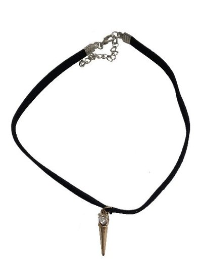 Minimalistic statement choker necklace with spike