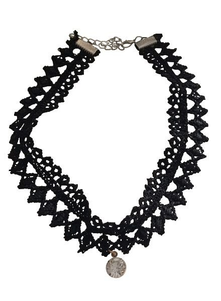 Cool layered statement choker necklace with rhinestone