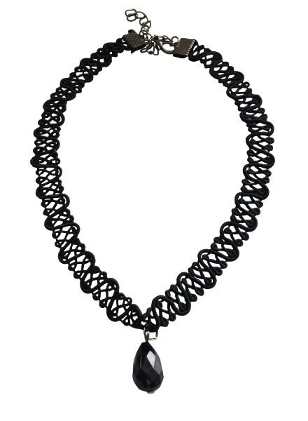 Coole twisted statement choker ketting met druppel