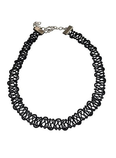 Cool twisted statement choker necklace
