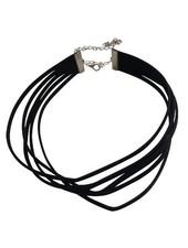 Five layered minimalistic statement choker necklace