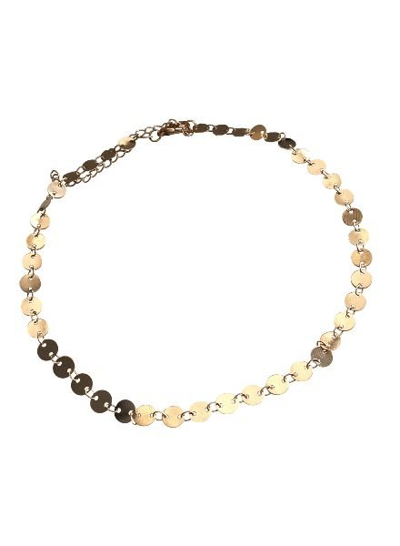 Chique statement choker necklace gold colored