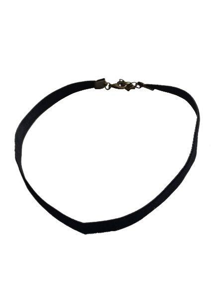Minimalistic statement choker necklace brass colored