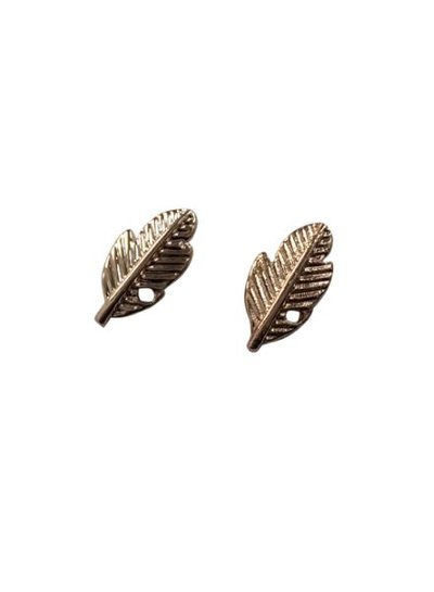 Minimalistic statement earrings feathers rose gold colored