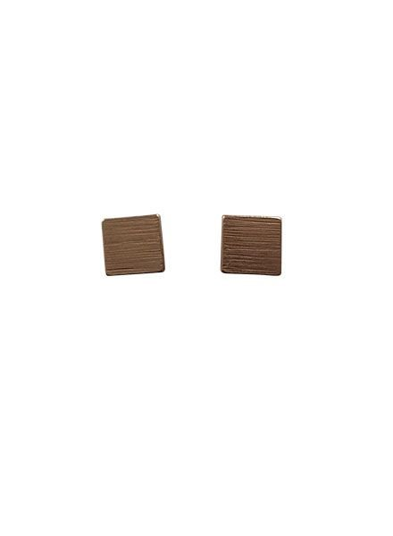 Minimalistic statement earrings squares gold colored