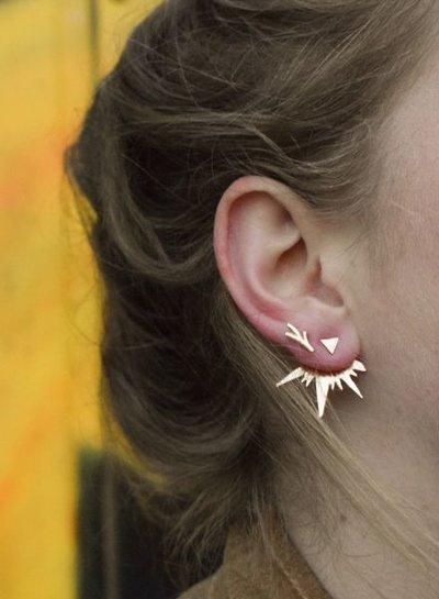Edgy rock chic statement oorbellen rosé goudkleurig
