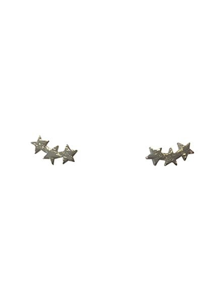 Cool minimalistic statement earrings stars silver colored