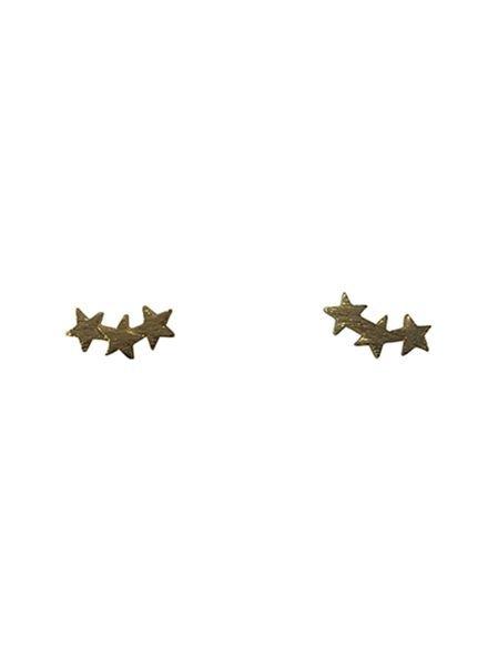 Coole minimalistische statement oorbellen sterren goudkleurig