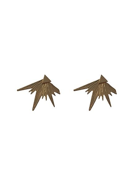 Edgy rock chic statement earrings rose gold colored