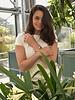 Minimalist chic marble statement cuff bracelet triangle white