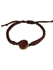Minimalistic nature stone statement bracelet pink