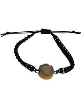 Minimalistic nature stone statement bracelet black