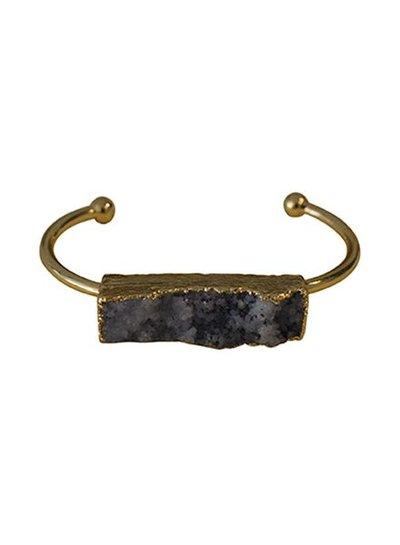 Minimalist chic nature stone statement cuff bracelet