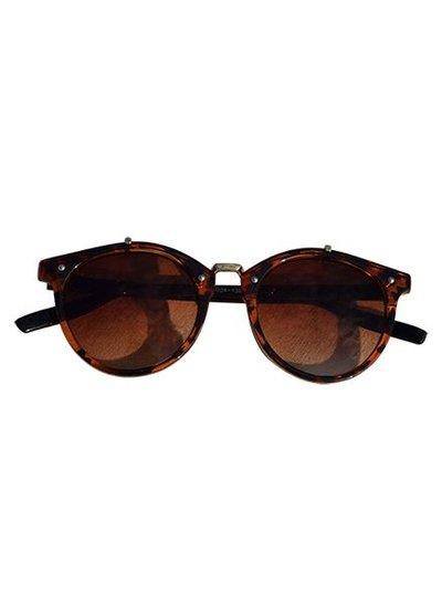 Bruine vintage urban stijl zonnebril