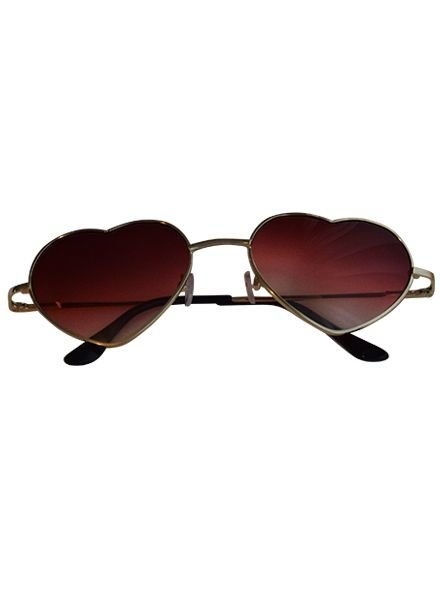 Trendy heart sunglasses red