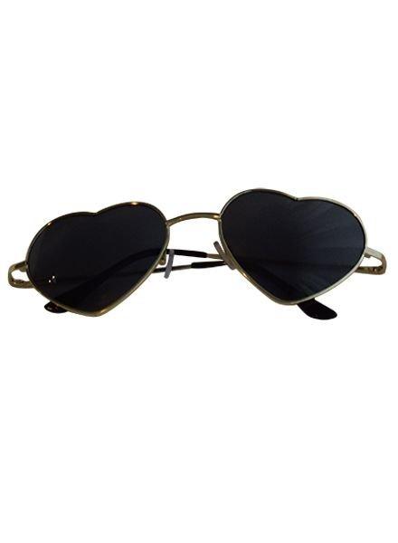 Trendy hartjes zonnebril zwart