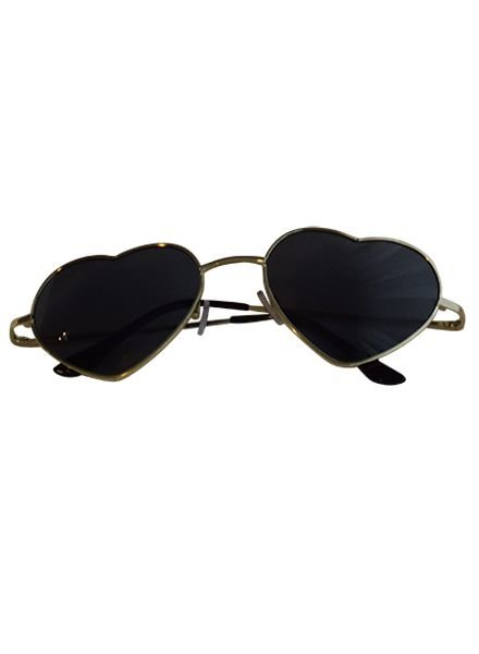 Trendy heart sunglasses black