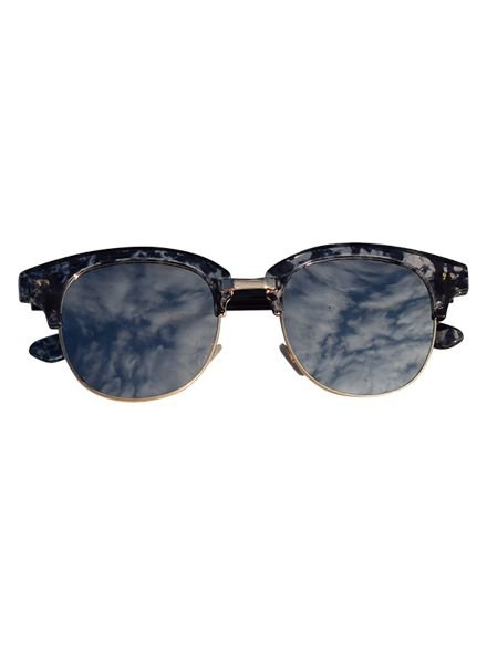 Marble look sunglasses with mirrored lenses navy