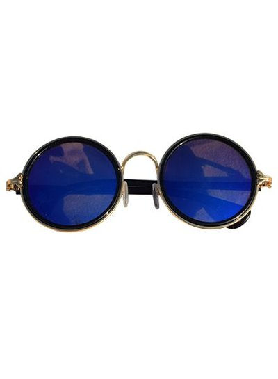 Cool round urban style sunglasses blue