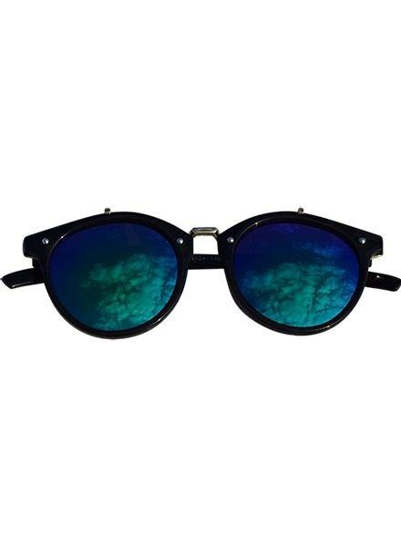 Vintage urban stijl zonnebril met edgy groene glazen