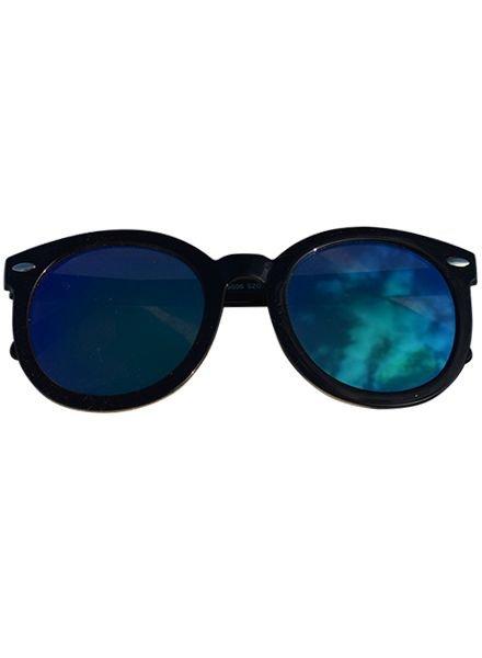 Oversized zonnebril met edgy glazen