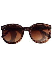 Oversized zonnebril luipaard