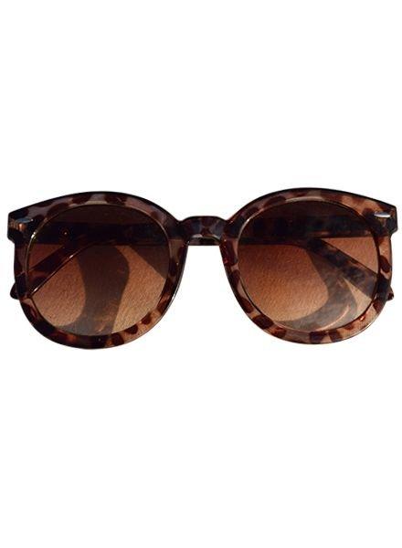 Oversized sunglasses leopard
